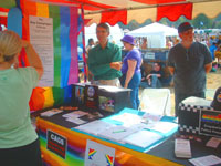 The Croydon stall at Brighton Pride
